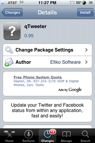 qTweeter – Update Twitter and/or Facebook Status From Any Application
