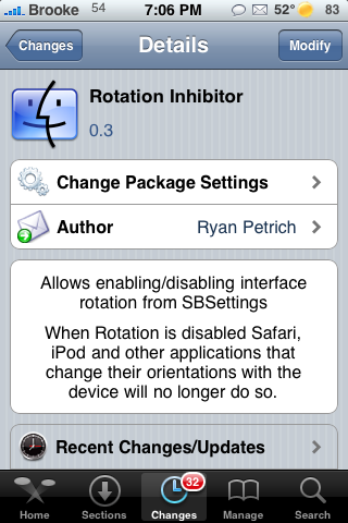Rotation Inhibitor Update – Turn off Auto-Rotating Feature