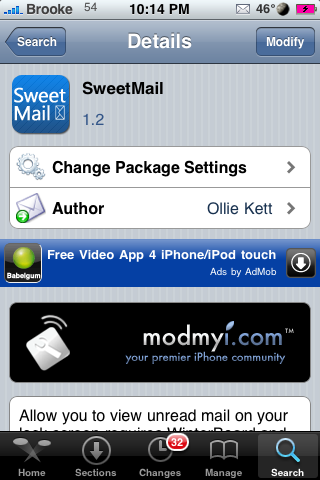 SweetMail – View Unread Mail on Your Lockscreen