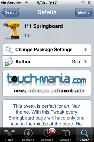 1*1 SpringBoard – No Web Clips Needed.