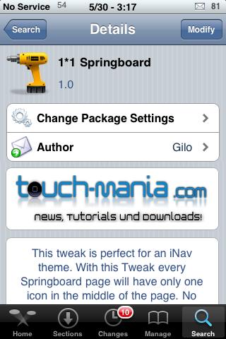 1*1 SpringBoard – No Web Clips Needed.