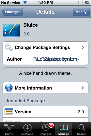 BluIce – WinterBoard Theme