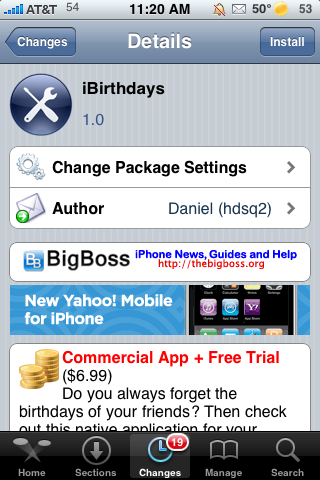 iBirthdays – Keep Track of Your Contacts' Birthdays