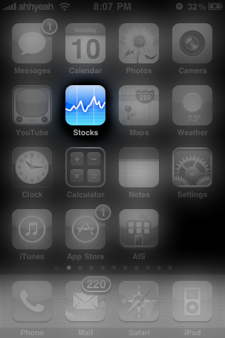 Firmware 3.0 Preview: Stocks