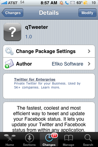 qTweeter Update – SBSettings Comptability and Add Images to Tweets