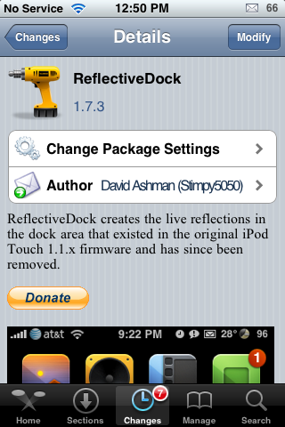 Reflective Dock Update – Adds Setting Options
