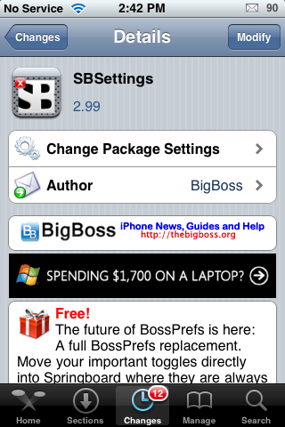 SBSettings Update – New Features and Bug Fixes