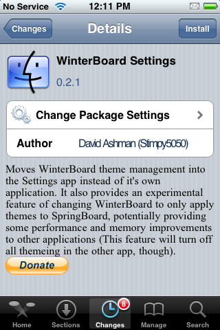 WinterBoard Settings