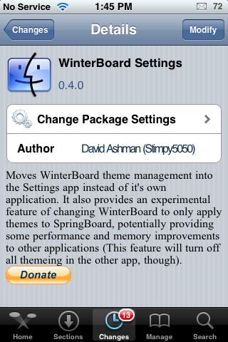 WinterBoard Settings Update – Hide WinterBoard Icon