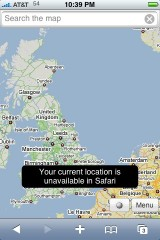 Google Maps in der Safari