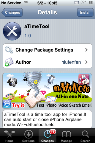aTimeTool – Set Timers for Airplane Mode, Bluetooth and Wi-Fi