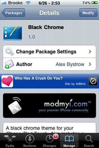Black Chrome – WinterBoard Theme
