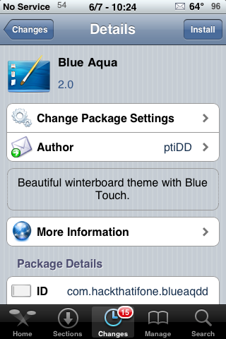 Blue Aqua – WinterBoard Theme