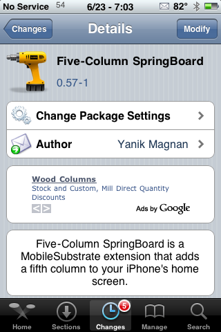 Five-Column SpringBoard Update – Supports 3.0 Firmware
