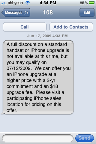 AT&T Open Letter: iPhone 3GS Upgrade Eligibility Update