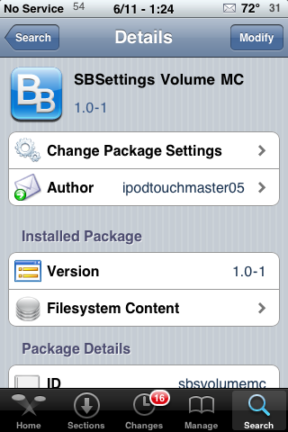 SBSetting Volume MC – Change Volume Buttons to Media Controls