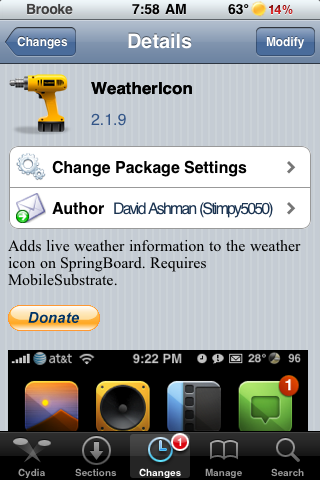WeatherIcon Updates – Status Bar Improvements