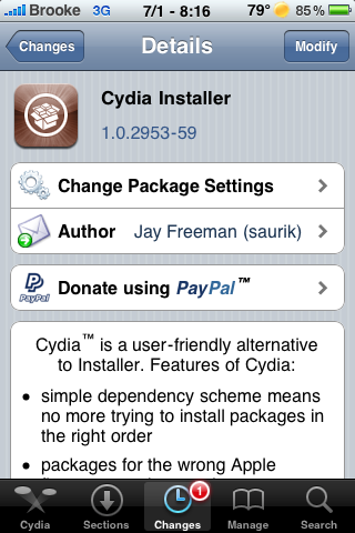 Cydia Update – Adds Letters Back into Search