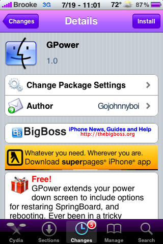 GPower – Respring, Reboot and Power Off from the Slide To Power Off Screen