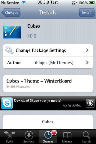 Cubez – WinterBoard Theme