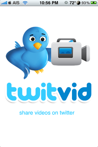 TwitVid – Post Video Taken From Your iPhone To Twitter