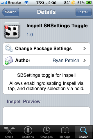 Inspell SBSettings Toggle