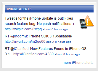New iPhone Alerts Twitter Feed