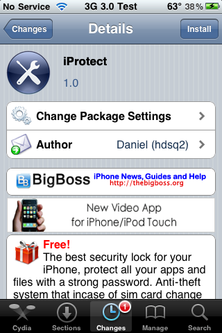 iProtect – Security Application for the iPhone and iPod Touch