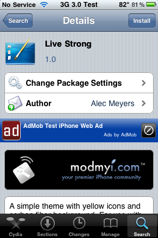 Live Strong – WinterBoard Theme