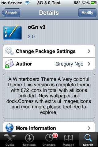 oGn v3 – WinterBoard Theme