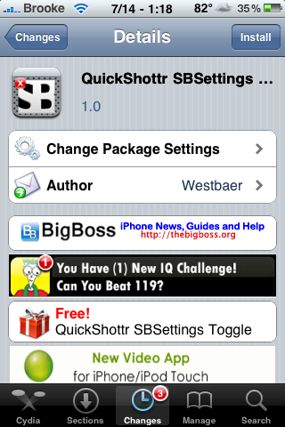 QuickShottr SBSettings Toggle