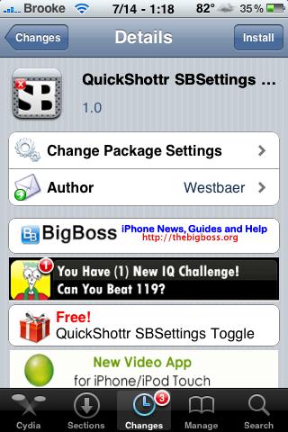 QuickShottr SBSettings Toggle