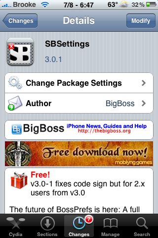 SBSettings and SBSettingsToggles Updated – Free Memory Feature