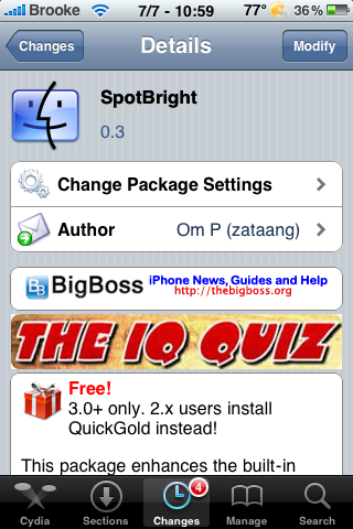 SpotBright Update – Fixes Crashing and Web Clip Launching Issues