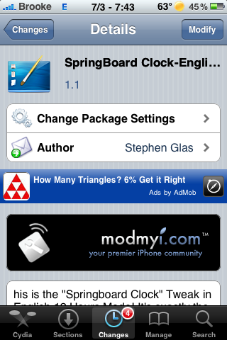 SpringBoard Clock Update