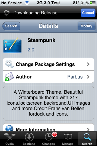 Steampunk – WinterBoard Theme