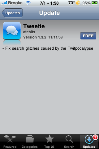 Tweetie Update – Fixes Twitpocalypse Bugs