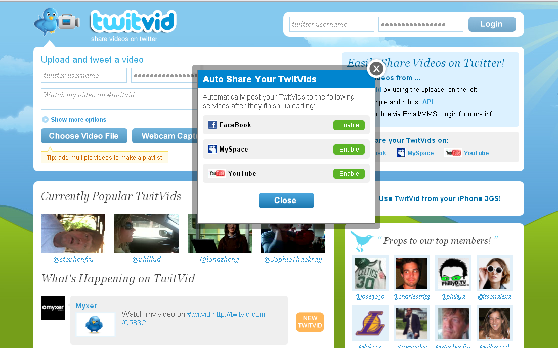 TwitVid Update – Upload Videos to Facebook, MySpace and YouTube