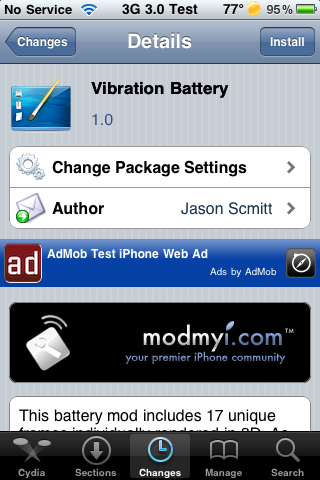 Vibration Battery – 3D Lock Screen Battery