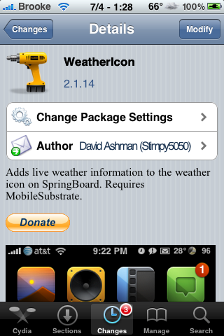 WeatherIcon 2.1.14 – Fixes Phone Bugs