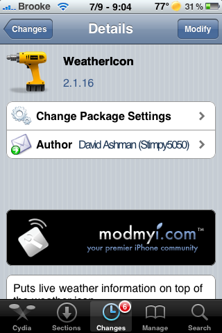 WeatherIcon Update – LockInfo Compatibility, Added Info to Settings and Bug Fix