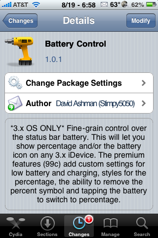 Battery Control – Additional Statusbar Battery Options