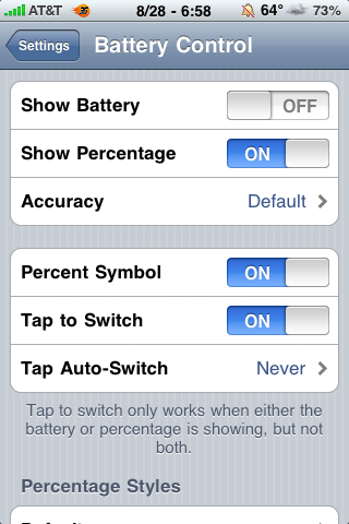 Battery Control Update