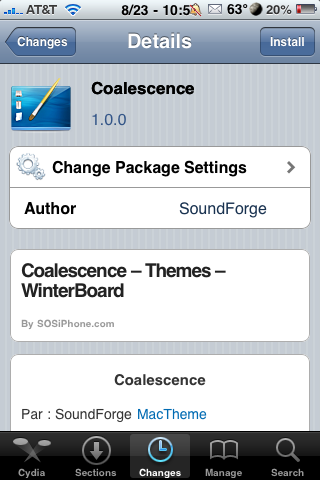 Coalescence – WinterBoard Theme