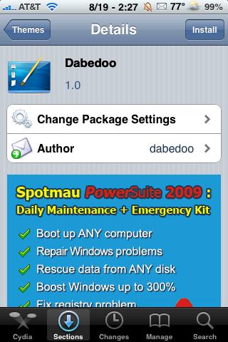 Dabedoo – WinterBoard Theme
