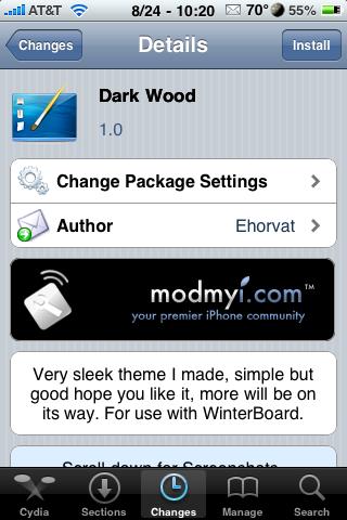 Dark Wood – WinterBoard Theme