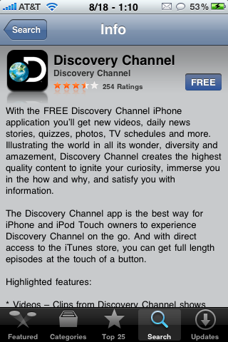 Discovery Communications Launches Discovery Channel Application