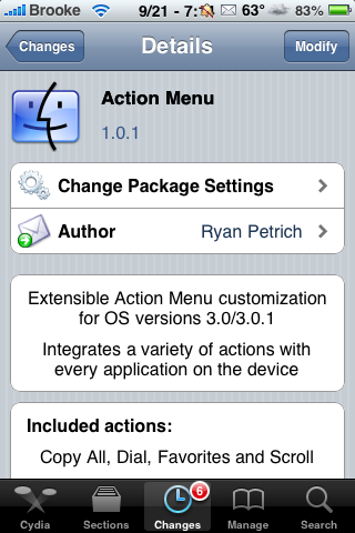 Action Menu Update – New Feature and Bug Fixes