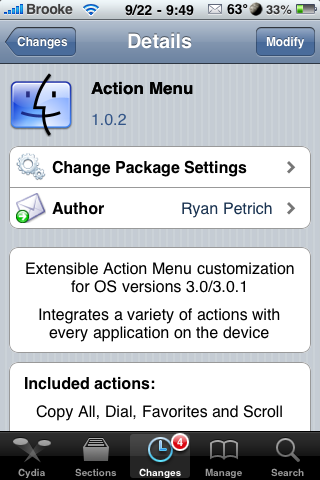 Action Menu Update – Reorder Favorites