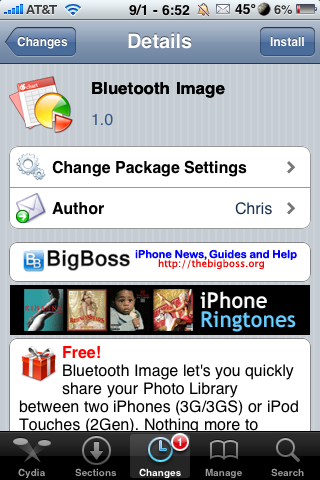 Bluetooth Image – Share Photo Album Images Over Bluetooth